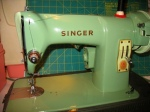 Singer 185J - to read a review on this machine click on the Sewing Machine Review Tab at the top of my blog.