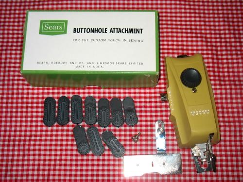 My Vintage Sewing Machine Attachments Stitch Nerd Mesmerizing Sewing Machine Buttonhole Attachment