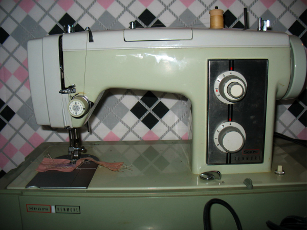 Green Sears Kenmore 40 Sewing Machine Stitch Nerd Stunning Is My Sewing Machine Low Shank