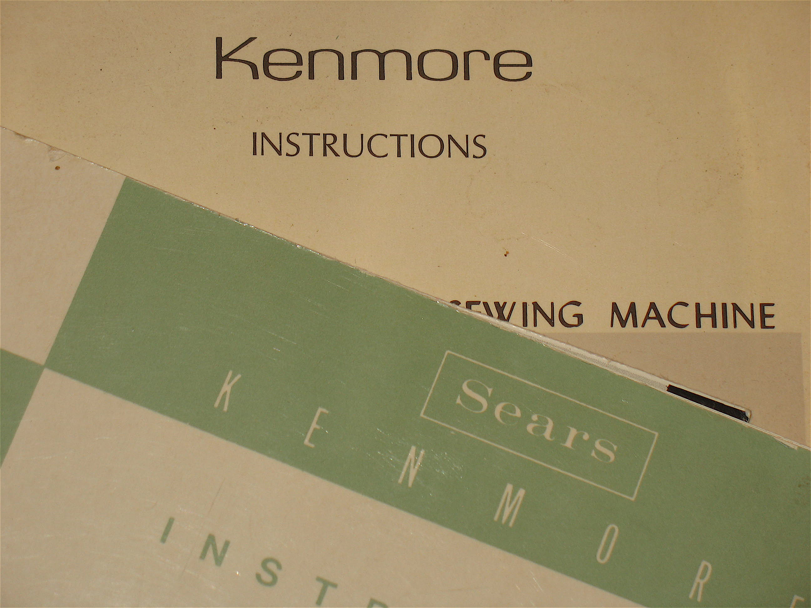 ... manual for your Kenmore sewing machine ? At ...