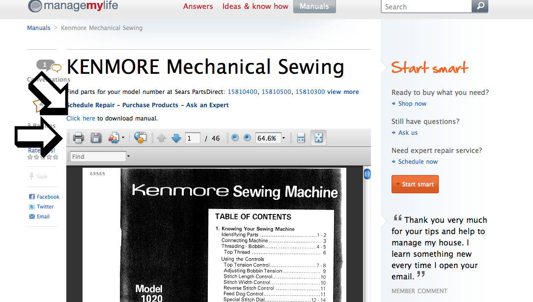 Free Kenmore Sewing Machine Manual Stitch Nerd Inspiration How To Thread A Sears Kenmore Sewing Machine Model 2142