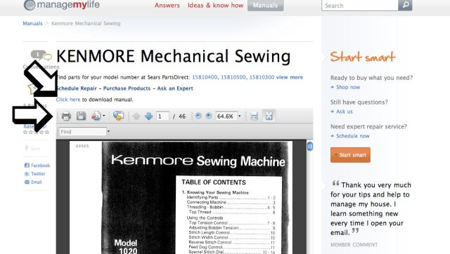Free Sears Sewing Machine Manuals Online Classy Sewing Machine Manuals Online